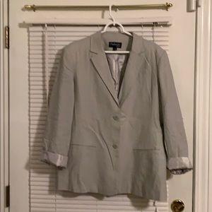Light gray women's blazer never worn 16